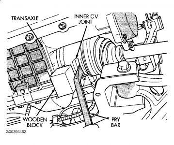 1996 Dodge Caravan Axel: Drive Train Axles Bearings