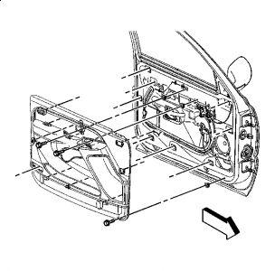 2002 Cadillac Escalade Driver's Side Door Lock: the Door