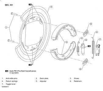 Nissan titan adjust parking brake