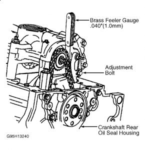 1998 Chevy Malibu Adjusting Timing Chain: Engine