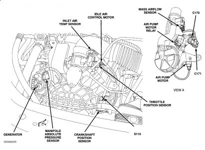 2006 Chrysler Sebring Intake Air Temperature (IAT) Sensor.