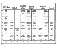 Fuse Panel Diagram Please: Electrical Problem 6 Cyl Two ...