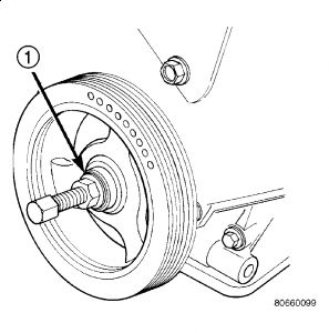 2005 Jeep Wrangler Harmonic Balancer Installation: Engine