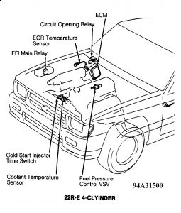 1994 Toyota Pickup: on My 1994 22 Re Pickup the Check