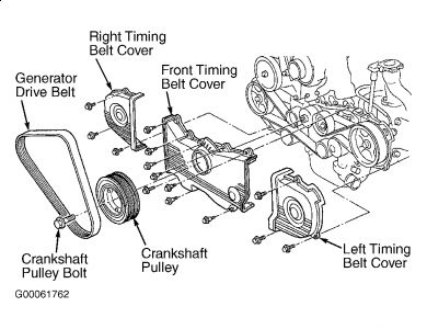 1996 Subaru Legacy CRANKSHAFT PULLEY: Engine Performance