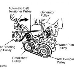 1996 Toyota Corolla Belt Diagram Worcester Bosch System Boiler Wiring 2002 Belts: 4 Cyl Automatic ...