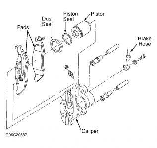 1999 Nissan Quest: Brakes Problem 1999 Nissan Quest 6 Cyl