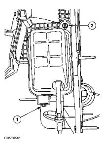 2004 Ford E-Series Van Location of AC Check Valve