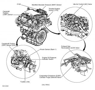 Buick 3100 Sfi V6 Engine Diagram GM Engine Parts Diagram