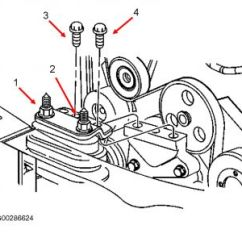 2001 Buick Lesabre Engine Diagram Outline Of The Eye Motor Mount Removal: Six Cylinder Front Wheel Drive Automatic. I ...