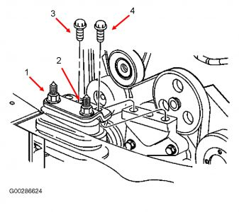 2004 buick lesabre belt diagram ford 4 6l engine motor mount removal: six cylinder front wheel drive automatic. i ...