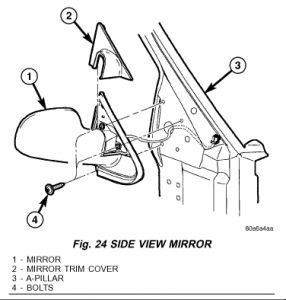 2006 Chrysler Town and Country Side Mirror: 2006 Chrysler