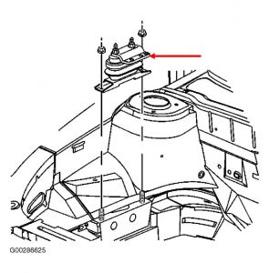 1998 Buick Park Avenue Motor Mount: Engine Mechanical
