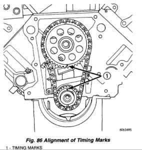 2001 Dodge Dakota Timing Chain: Engine Mechanical Problem
