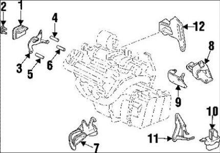 1998 Buick Park Avenue Motor Mount: Engine Mechanical
