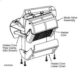1995 Saturn SL1 Heater Core: Heater Problem 1995 Saturn