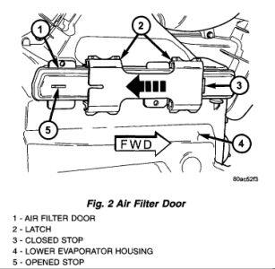 2001 Dodge Caravan A/C Cabin Air Filter