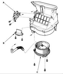 2001 Acura CL Heater Motor Running: Heater Problem 2001