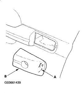 2004 Acura TL Exterior Door Handle: the Small Plastic Part
