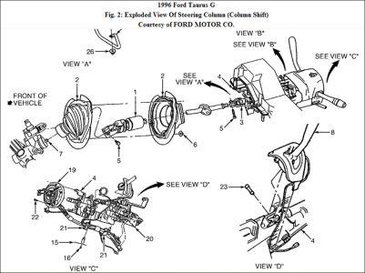 1996 Ford taurus steering column