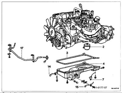 1989 Mercedes Benz 300e REPLACING OIL PUMP: Engine