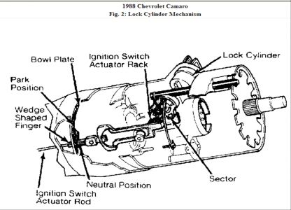 1988 Chevy Camaro Steering Wheel Ignition Lock: Electrical