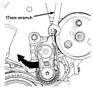 Replacement of Power Steering Serpentine Belt: Four