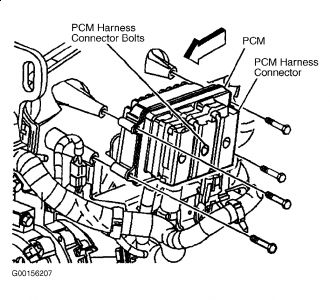 How to Replace the ECM (PCM): Six Cylinder Four Wheel