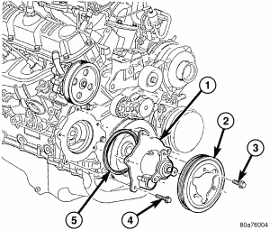 2006 Chrysler Town and Country Cannot Take the Water Pump Off
