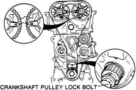 1995 Mazda 626 Timing Belt: Alligning Timing Belt Marks