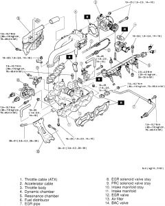 1998 Mazda 626 EGR VALVE: Where Is the Egr Valve Located