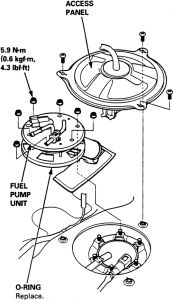 1996 Acura RL Fuelpump Replacement: Electrical Problem