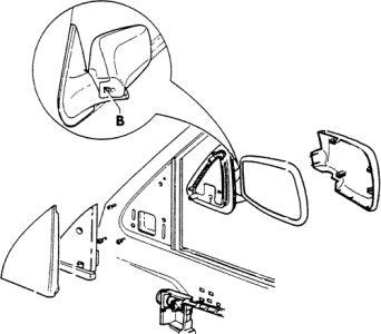 1999 Volkswagen Jetta SIDE VEIW MIRROR: CAN THE TOP PART