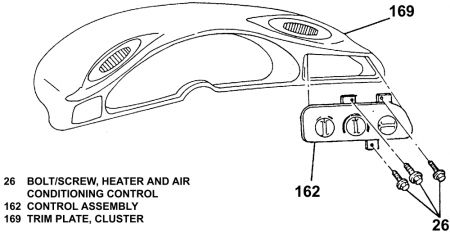 1997 Chevy Camaro Heater Vent: 1997 Chevy Camaro 6 Cyl
