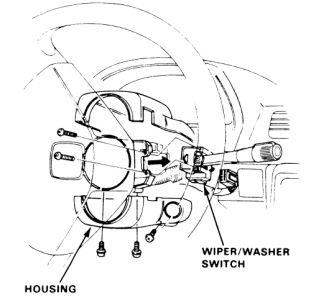 1985 Honda Civic Windshield Wiper Switch: 1985 Honda Civic