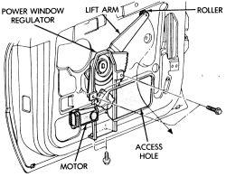 1994 Chrysler Le Baron Power Window: 1994 Chrysler Le