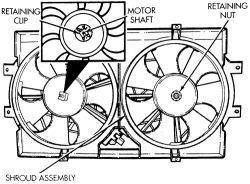 1996 Dodge Intrepid Replace Cooling Fan Motor: Engine