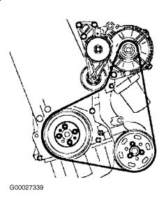 1999 Volkswagen Jetta Serpentine Belt Diagram: 1999