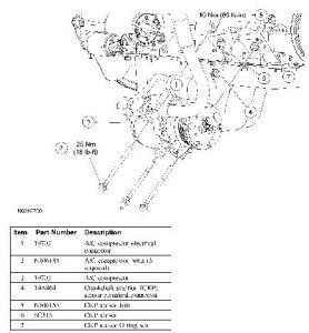 2005 Ford Expedition Procedure for CrankShaft Sensor Replac