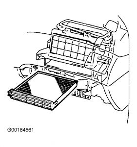 2002 Toyota Avalon CAbin Air Filter: How Do I Change the