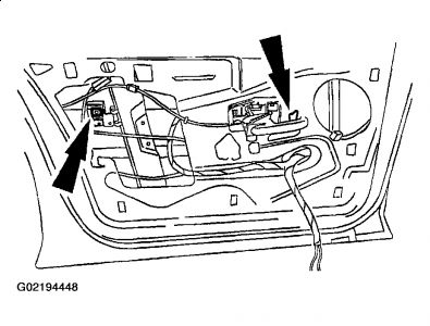 Service manual [2002 Mercury Cougar Driver Door Latch