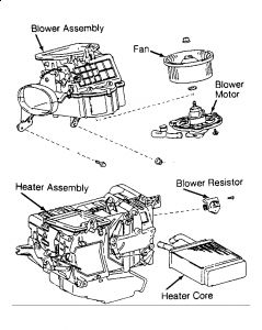 1992 Toyota Tercel Heater Core: to Remove the Heater Core