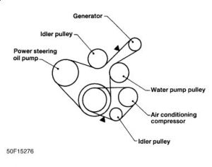 1997 Nissan Altima Need Belt Routing Diagram: Engine Mechanical