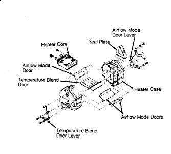 1993 Mazda Protege Heater Core: 1993 Mazda Protege 4 Cyl