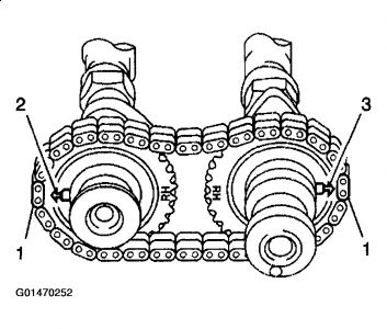 2003 Chevy Tracker Timing Chain Marks: Engine Mechanical
