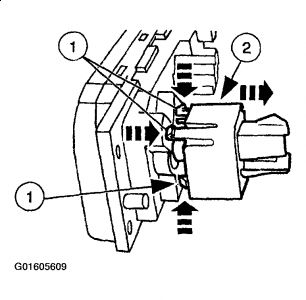 2003 Mercury Marquis Blower Switch Location: Heater