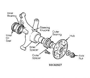 1993 Geo Metro Remove Brake Rotor: Brakes Problem 1993 Geo