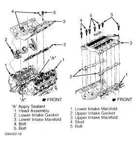 1994 Oldsmobile Ciera Bolt Torque Specs for Intake Manifold