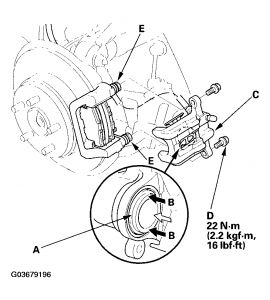 2005 Honda Element How to Back Calipers so I Can Put New Pa