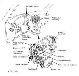 1992 Lexus ES 300 Blower Motor Resistor: Where Is It